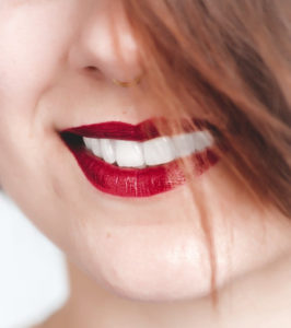 red lips with white teeth,  cosmetic dentistry prescott az